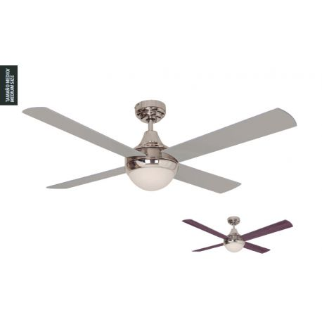 Ceiling Fan With Light Cross Chrome Sulion