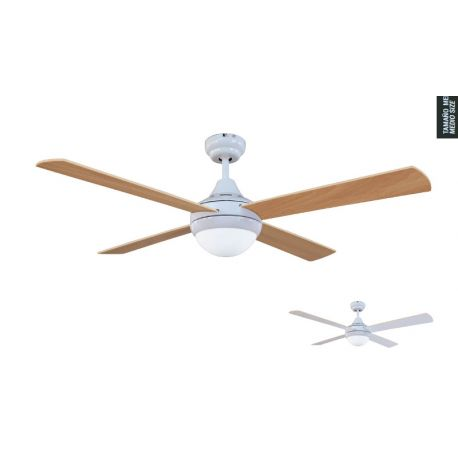 Ceiling Fan With Light CROSS WHITE Sulion