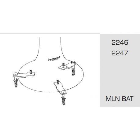 Base for Outdoor Floor Lamp BAT 6246-6247 Milán Iluminación
