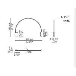 Lámpara Aplique VOLTA  A-3531 (Grande) Estiluz