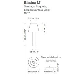 Table Lamp BÁSICA M1 Santa & Cole