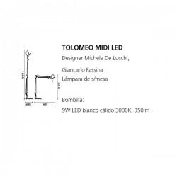 TOLOMEO MIDI LED Artemide (Only Body)