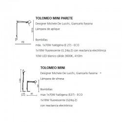 TOLOMEO MINI LED Artemide (Only Body)