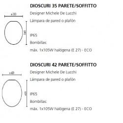 Wall or Ceiling Lamp DIOSCURI 35 Artemide