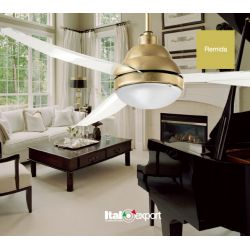 Ceiling Fan With Light REMIDA LED Italexport (Diam. 127)