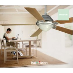 Ventilador con Luz MAESTRALE LED Italexport (Diam. 128)