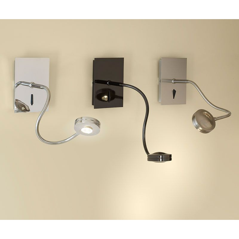 Aplique led flexo lexa bover l mparas de decoraci n - Flexos de pared ...