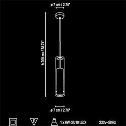 Lámpara de Suspensión Led HARDY Bover