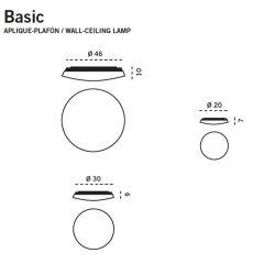 Aplique o Plafón Led BASIC Carpyen