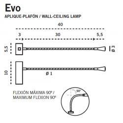 Led Wall or Ceiling Lamp EVO Carpyen