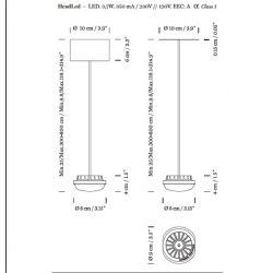 Led Suspension Lamp HEADHAT CERAMIC Santa & Cole