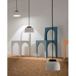 Led Suspension Lamp HEADHAT CERAMIC Santa & Cole