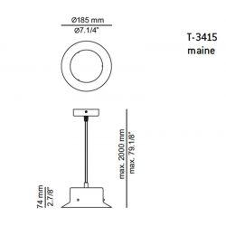 Lámpara de Suspensión Led MAINE T-3415 Estiluz