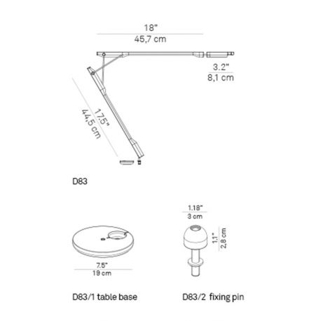 Fixing Pin for TIVEDO Luceplan