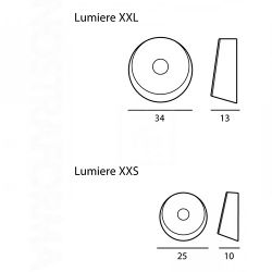 Ceiling or wall lamp LUMIERE XXL - XXS by Foscarini