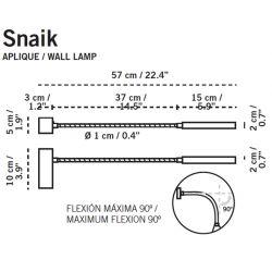 Led Wall Lamp SNAIK Carpyen
