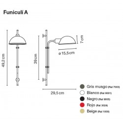 Wall Lamp FUNICULÍ A Marset