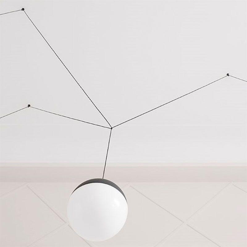 Led Suspension Lamp STRING LIGHT SPHERE Flos - Lamparas de Decoracion