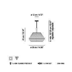 Lámpara de Suspensión MEI 38 Bover