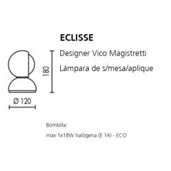 Table Lamp Wall Lamp ECLISSE Artemide