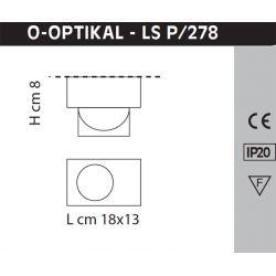 Led Wall or Ceiling Lamp O-OPTIKAL Sillux